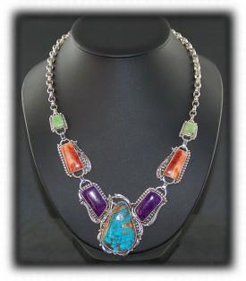 Silver Necklaces - Silver Gemstone Necklace