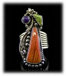Victorian Style Silver Jewelry Ring by John Hartman, Durango Silver Co