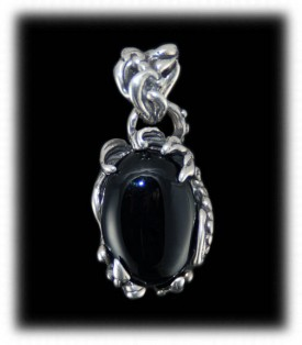 Handmade Sterling Silver Pendant with Black Onyx