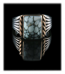 Silver and Gold Saddle Ring  by John Hartman