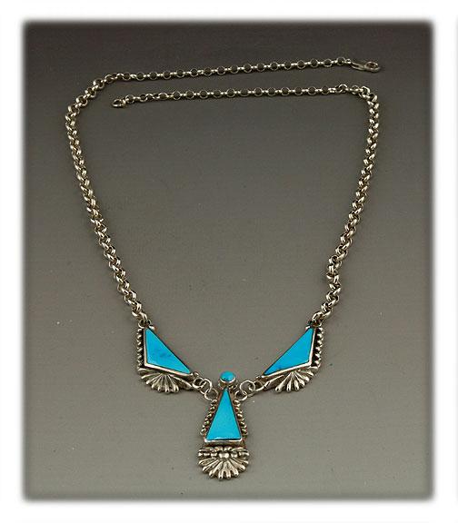 Sleeping Beauty Blue Turquoise Necklace