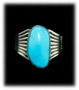 Sleeping Beauty Turquoise and Silver Ring