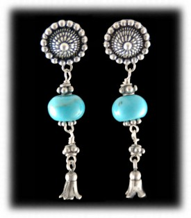 Sleeping Beauty Turquoise Bead Earrings