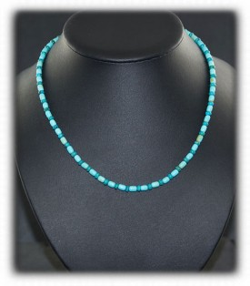 Blue Turquoise Beaded Turquoise Necklace
