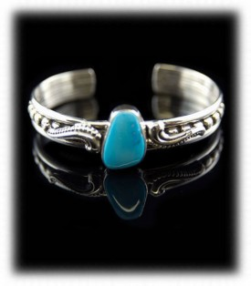 Native American Sleeping Beauty Turquoise Jewelry - Bracelet