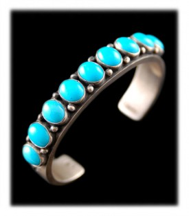 Sterling Silver Bracelet with Sleeping Beauty Turquoise