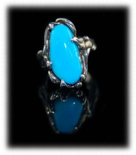 Sleeping Beauty Turquoise Jewelry - Sterling Silver Ring