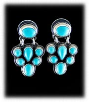 Sleeping Beauty Turquoise and Silver Earrings