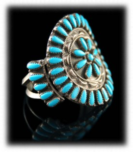 Sleeping Beauty Turquoise Cluster Bracelet