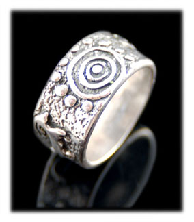 Rock Art Silver Rings and Bands