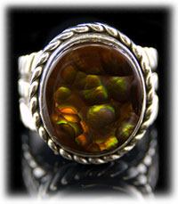 Southwestern Fire Agate Ring