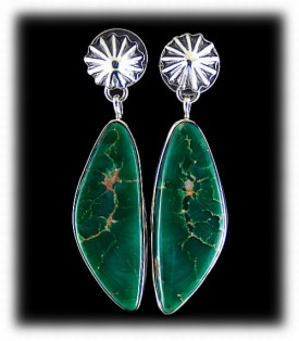 Southwestern Green Earrings