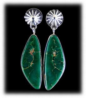 Southwestern Green Earrings