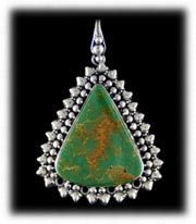 Southwestern Turquoise Jewelry Pendant