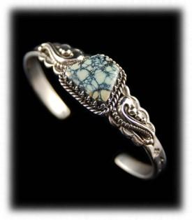 Spiderweb Tortoise Turqoise Bracelet