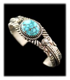 Navajo Turquoise Bracelet by Leo Yazzie