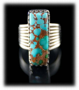 Royston Spiderweb Turquoise Silver Ring