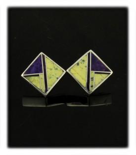 Inlay Stud Earrings