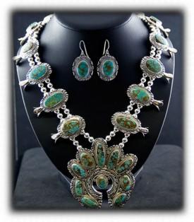 Squashblossom Turquoise Necklace