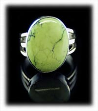 Stennich lime Turquoise Ring by Dillon Hartman