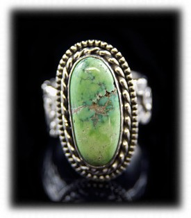 Sterling Silver Lime Turquoise rings