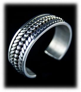 Mens Sterling Silver Bracelet, Silver Mens Bracelet by John Hartman