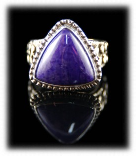 Sugilite Sterling Silver Ring Band