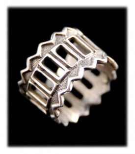 Overlay Cuttout Sterling Silver Ring Bands