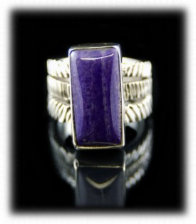 Sugilite in a Sterling Silver Ring