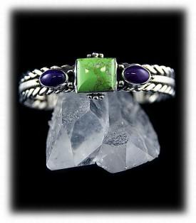 American Jewelry artisan handmade Sugilite and Gaspeite Bracelet