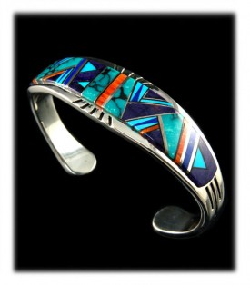 Native American Turquoise and Sugilite Cuff Bracelet