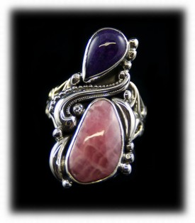 Rhodocrocite Silver Ring