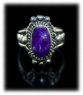 handmade Silver Ring with Sugilite