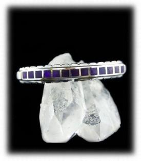 Inlaid Sugilite Silver Bracelet