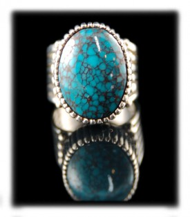Spiderweb Turquoise from the Unknown Mine of Nevada by Ben Yazzi - Navajo