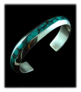 Tibetan Turquoise Inlay Bracelet