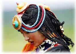 Tibetan Turquoise on a native Tibetan