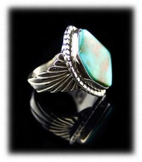 Turquoise ring with Blue Gem Turquoise