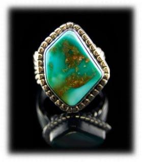 Tonpah Blue Gem Turquoise Ring