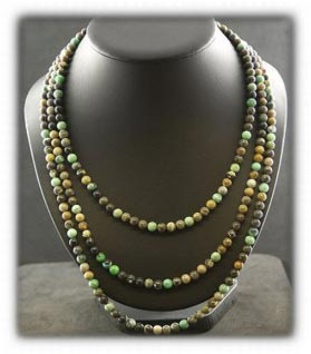 multi strand boulder turquoise bead necklace