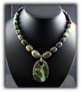 Lime Turquoise Beaded Jewelry