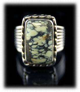 Tortoise Turquoise Mens Ring