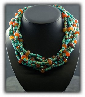 Treasure bead necklace