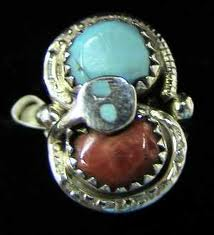 Turquoise Coral Ring