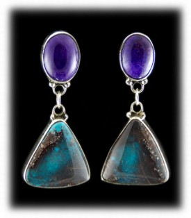 Sugilite and Bisbee Turquiose Earrings