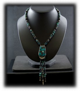 Turquoise Bead Necklace by Nattarika and John Hartman