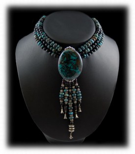 Fashion Turquoise Bead Pendant/Necklace