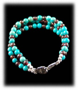 Kingman Turquoise Beaded Bracelet
