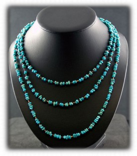 Turquoise Beaded Necklace with Black Onyx