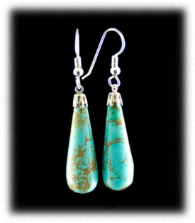 Turquoise Teardrop Bead Earrings